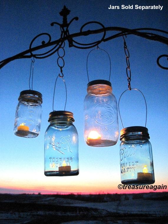 30 Candle Lantern Lids Diy Wedding Mason Jar Lanterns Hanging