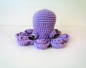 Amigurumi Octopus - Light Purple Octopus with Safety Eyes