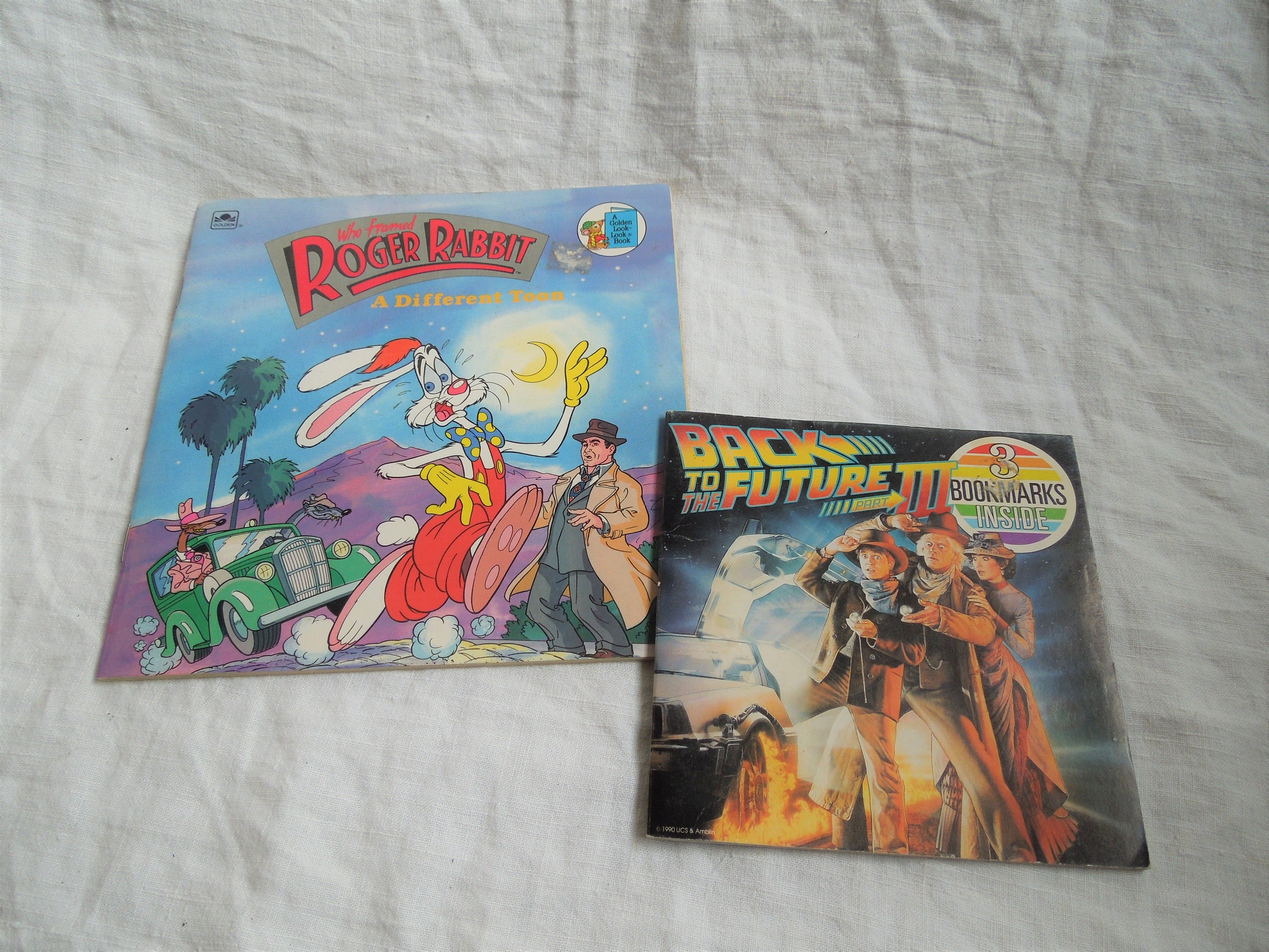 90s Back to the Future and Who Framed Roger Rabbit Movie Book