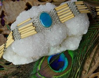 Peruvian antique 1970s choker necklace