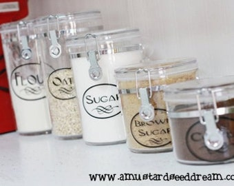 Adorable Canister Labels - Vinyl Wall Art, Graphics, Lettering, Decals, Stickers