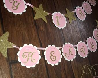 Twinkle Twinkle Little Star Happy Birthday banner