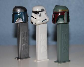 Star Wars Boba Fett, Storm Trooper, and Jango Fett PEZ Candy Dispensers - Collectibe - Star Wars PEZ - Great Gift Idea
