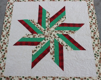 New Christmas Native American Star Quilt (57in x 56 1/2in) - FREE SHIPPING