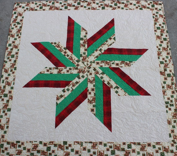 New Christmas Native American Star Quilt 57in X 56 12in