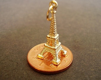 9k 9ct Gold Eiffel Tower Charm