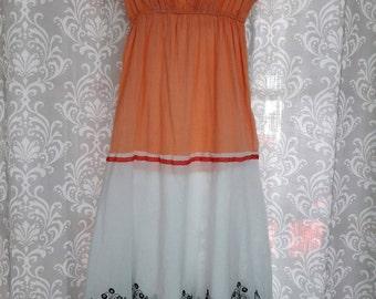 SUMMER SALE Girls Boho Dress, Eco friendly girls hippie dress, upcycled girls dress, Hippie Dress Kids, Kids Boho Dress