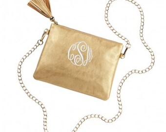 Gold Monogrammed Kendall Purse