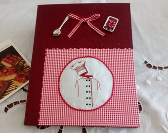 protect recipe book + notebook. (embroidery)