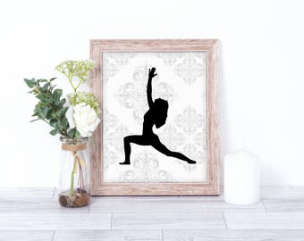 Yoga Wall Art - Yoga Wall Prints - Printable Yoga Art - Yoga Decor Bedroom - Yoga Bedroom Art - Printable Art Yoga