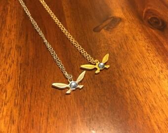 Navi Necklace - Legend of Zelda Necklace - Zelda Necklace - Fairy Necklace - Zelda Fairy Necklace - Navi Jewelry - Zelda Pendant - Navi