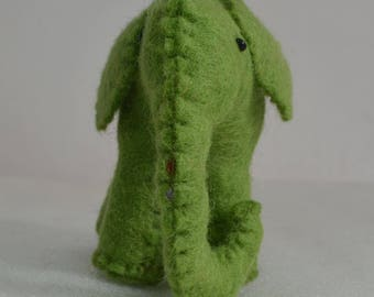 Elephant toy needle felt, felt toy, felted animal, felt elephant,