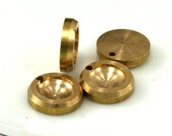 4 PCS Raw Brass 12 mm Pendant finding 7.8 mm Setting Findings