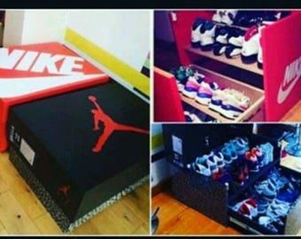 How to build custom made Jordan Nike ect wood drawer shoe storage box