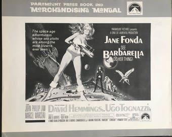 US Press Book and advertising manual Barbarella Dir Roger Vadim 1968