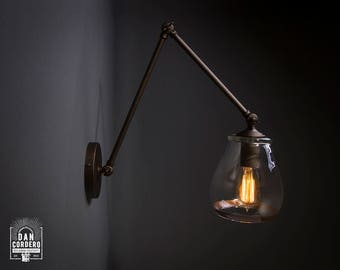 Wall Sconce | Articulating Sconce | Oil Rubbed Bronze | Reading Light | Bedroom Light | Light Fixture
