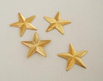 Raw Brass Stamping  Art Deco Star  .