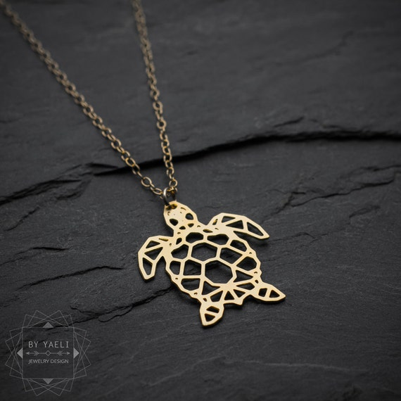 Sea turtle necklace turtle necklace sea necklace origami sea turtle necklace turtle necklace sea necklace origami geometric turtle gold turtle pendant beach necklace turtle jewelry mozeypictures Images