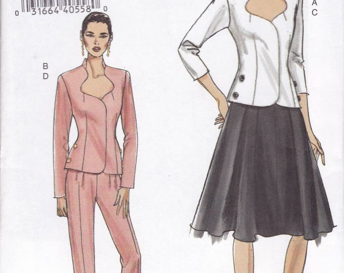 FREE US SHIP Vogue 8205  Out of Print Dress Jacket Skirt Size 6 8 10 12 Bust 30.5 31.5 32.5 34  New Uncut Sewing Pattern 2006