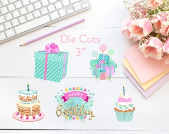Planner Die Cuts / Birthday Die Cuts / Die Cuts / Planner Accessories / TN Die Cuts / Traveler's Notebook Accessories