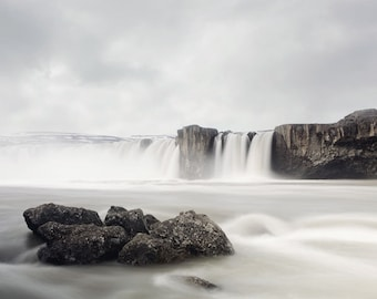 "Godafoss Waterfall Print, Iceland Art, Landscape Photography, Nature Print, Travel Photography, Iceland Print ""Chasing Waterfalls"""