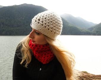 Handmade Cream beanie / Cream Beanie / beanie / women's beanie / white beanie / beanie / donate to charity / handmade hat / crochet hat /