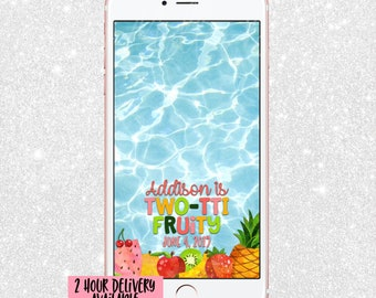 Twotii Fruity Snapchat Geofilter - Snap Chat Filter Fruit - Second Birthday Snapchat - Snapchat Geofilter - Two-Tii Fruity Birthday Decor