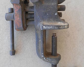 Vintage Small TNC Clamp-on Bench Vise