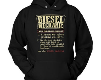 Diesel Mechanic Hoodie Diesel Mechanic Gift Dictionary Definition Sweater