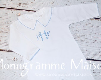 Baby Boy Coming Home Outfit - Baby Gift - Newborn Boy Coming Home Outfit - Boy Baptism Outfit - Boy Christening Outfit - Pant Romper - Pima