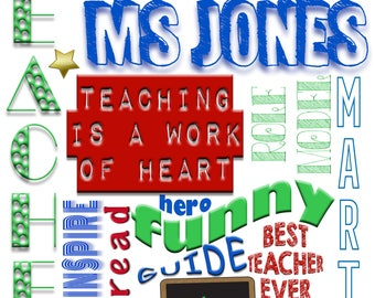 Personalized Teacher Collage