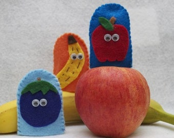 Fruit Medley Finger Puppets