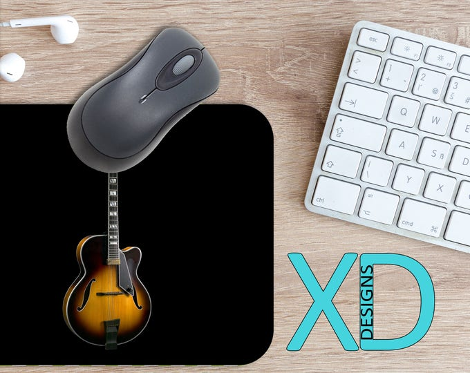 Wood Guitar Mouse Pad, Wood Guitar Mousepad, Acoustic Rectangle Mouse Pad, Brown, Acoustic Circle Mouse Pad, Wood Guitar Mat, Computer, Song