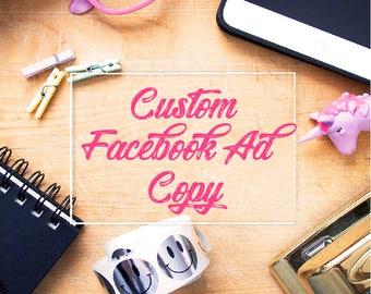 Custom Facebook Ad, Facebook Marketing, Copy for Facebook Ads, Shop Advertising, Copywriting, Ad Template, Etsy Seller Help, Copy Help