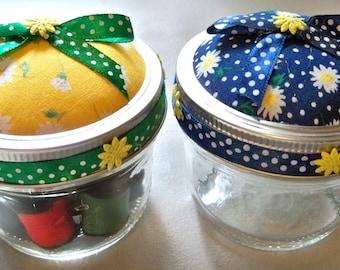 Daisy Mason Jar Sewing Kits