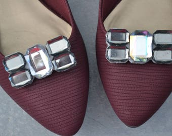 Silver Shoe Clips