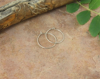 "Hoop Earrings - 5/8""(16mm) Sterling Silver, Small Hoop Earrings, Thin Hoop Earrings, Sterling Silver Hoops, Gift Under 10"