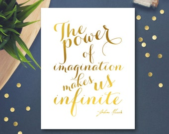 Inspirational Quote Printable Art Print - The power - John Muir Quote Motivational Poster Gold Calligraphy Quote Wall Decor Digital Download