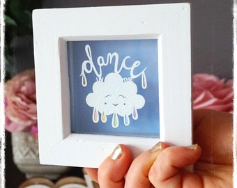 Dance in the Rain - Motivational Papercut Art