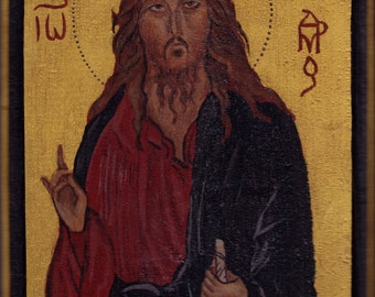 Saint John the Evangelist icon painting