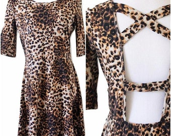 90s Cheetah Dress- Crazy in Alabama Inspired/Sizes 6-10