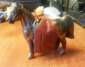 Copper Horse with a Saddle