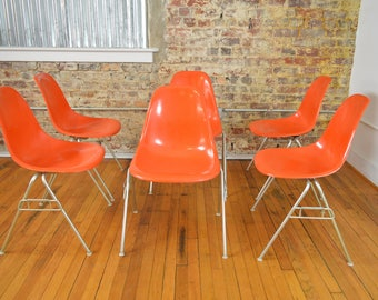 Fabulous Set of Six Eames for Herman Miller Stacker Chairs