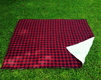 Picnic Blanket Waterproof, Buffalo Plaid Blanket, Large Picnic Blanket, Plaid Picnic Blanket, Waterproof Blanket, Quilted Picnic Blanket