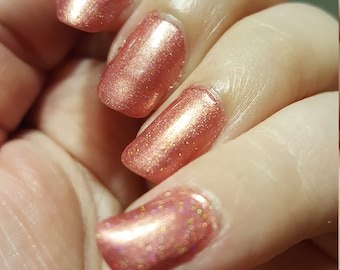 molten 2 - business friendly and evening perfect hidden holo red polish