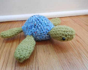 Amigurumi Crochet Sea Turtle - Stuffed Animal - Toy - Handmade