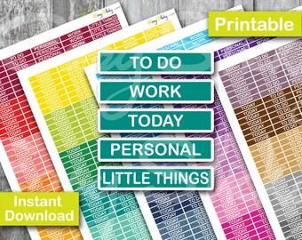 Sales! Daily Header Planner, colorful Header, To do Planner, Printable Planner Sticker, Erin Condren Planner Sticker