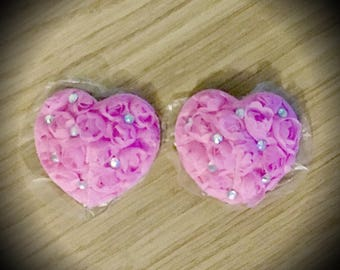Burlesque Pasties Pink Heart Rhinestone Nipple pasties