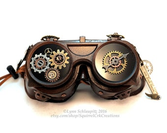 Steampunk Goggles, Steampunk Accessory, Cosplay, Steampunk costume, Larp, Goggles, Airship Captain, Role Play