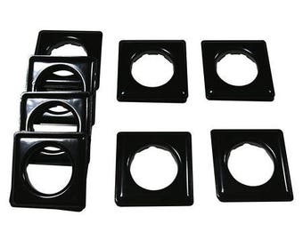"Fast-set Metal, #12 Square Grommet, 1 9/16"", 8 Sets, Black"